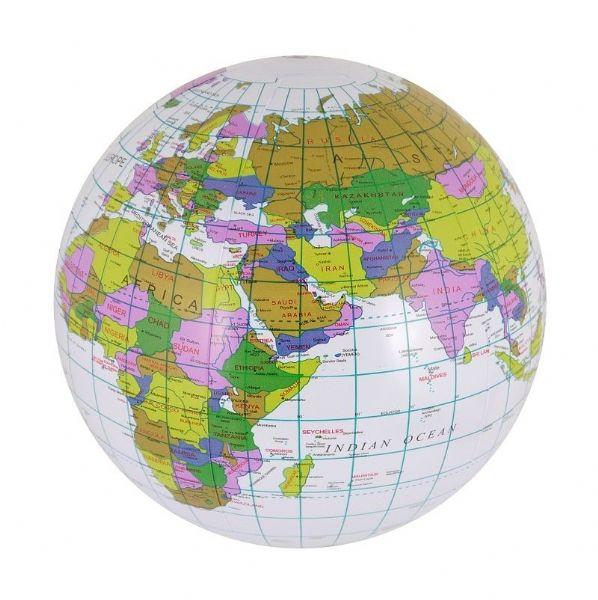 40cm Inflatable Globe Map Ball World Earth Geography Educational Blow Up Atlas